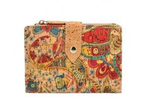Dámska peňaženka v korkovom dizajne B1769 typ 1