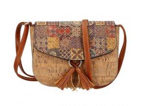 Crossbody dámska kabelka v korkovom dizajne SE261-1