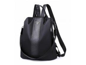 Čierny ľahký dámsky batôžtek / kabelka cez rameno