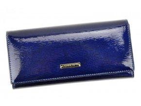 Lorenti modrá dámska kožená peňaženka RFID v darčekovej krabičke