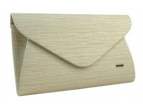 Luxusná béžová listová kabelka so zlatým nádychom SP126 GROSSO