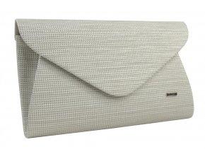 Luxusná krémová listová kabelka so strieborným nádychom SP126 GROSSO