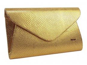 Luxusná zlatá listová kabelka v hadím motívu SP126 GROSSO