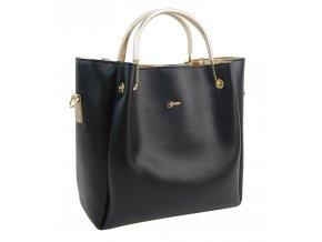 Čierno-zlatá elegantná dámska kabelka S728 GROSSO