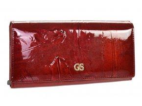 GROSSO Kožená dámska peňaženka v motíve vtáčích pierok RFID červená v darčekovej krabičke