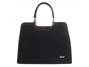Elegantná čierna matná kabelka v hadím dizajne S8 GROSSO