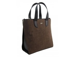 Veľká tmavo hnedá dámska kabelka do ruky aj na rameno S777 GROSSO