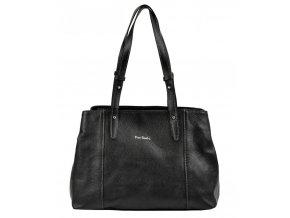 Pierre Cardin Kožená dámska kabelka cez rameno čierna