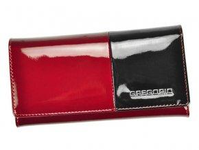 Gregorio Kožená červeno-čierna dámska peňaženka v darčekovej krabičke