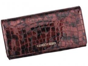 Gregorio Kožená višňová dámska peňaženka v darčekovej krabičke