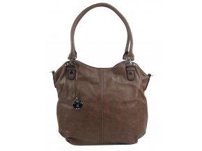 Veľká dámska kabelka / vrece cez rameno 334-MH prírodne hnedá