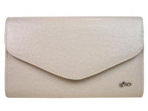 Béžová matná spoločenská listová kabelka SP102 GROSSO
