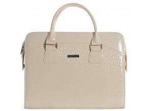 """Dámska elegantná taška na notebook béžový lak ST01 15.6"""" GROSSO"""