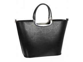 Luxusná kabelka čierna S7 vlnka GROSSO