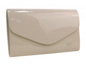 Béžová lakovaná spoločenská listová kabelka SP102 GROSSO