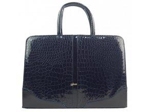 """Elegantná dámska aktovka / taška na notebook 15.6"""" modrá kroko koža ST03 GROSSO"""