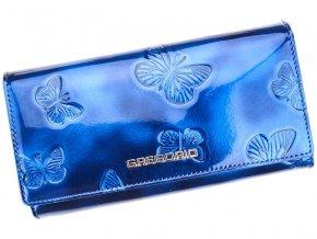 Gregorio Kožená modrá dámska peňaženka s motýľmi v darčekovej krabičke