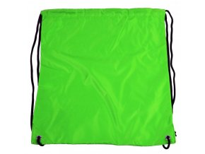Vrecúško do telocviku / na cvičky jednofarebný sťahovateľný zelený 3H02
