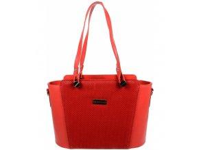 Červená dámska kabelka cez rameno S640 GROSSO