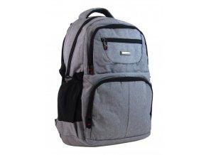 New Berry Elegantný polstrovaný školský batoh L18105 svetlo sivý