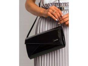 Čierna lakovaná dámska listová kabelka W65 ROVICKY