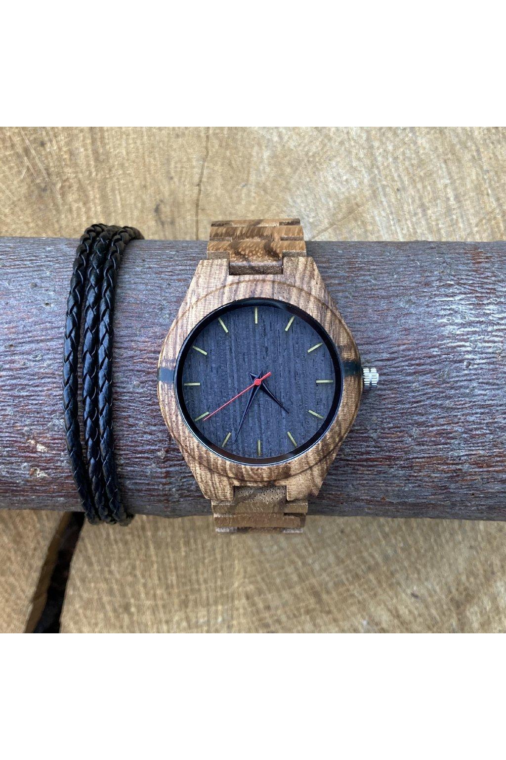 Dřevěné hodinky Adam