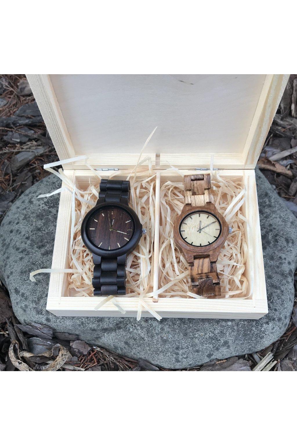 Dřevěná krabička pro páry