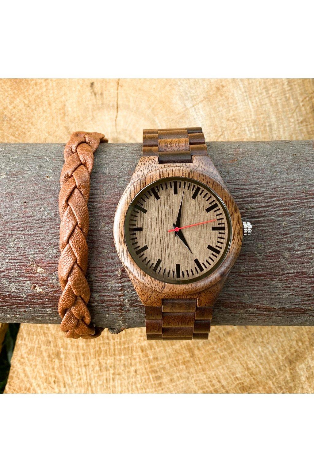 Dřevěné hodinky Martin