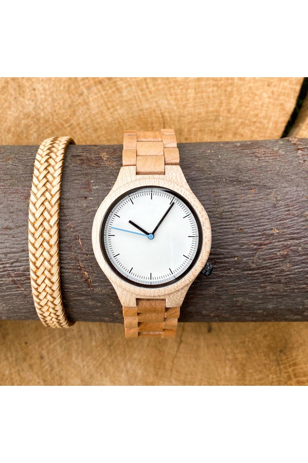 Dřevěné hodinky Rudolf