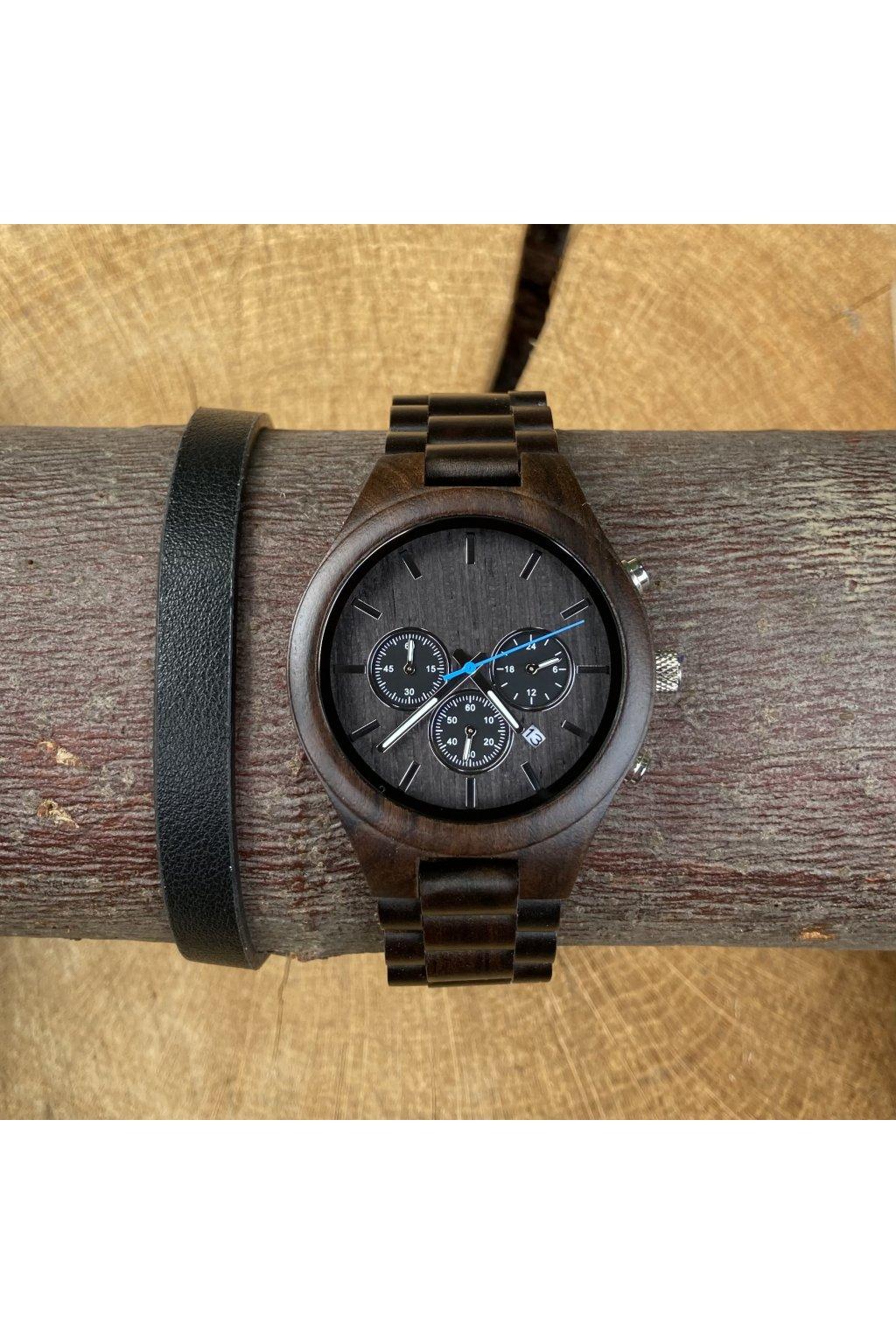 Dřevěné hodinky Bedřich
