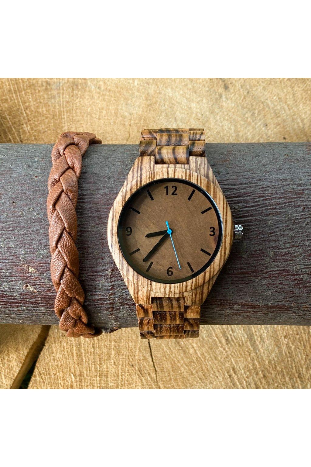 Dřevěné hodinky Leoš