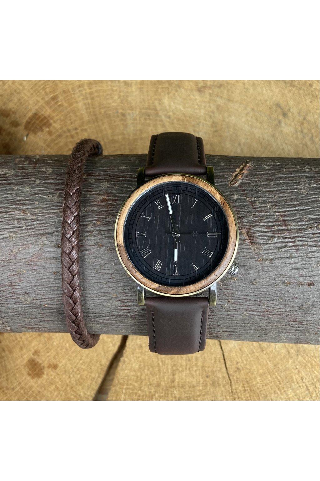 Dřevěné hodinky Patrik