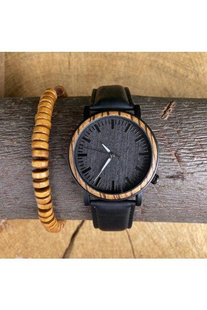 Dřevěné hodinky Emil