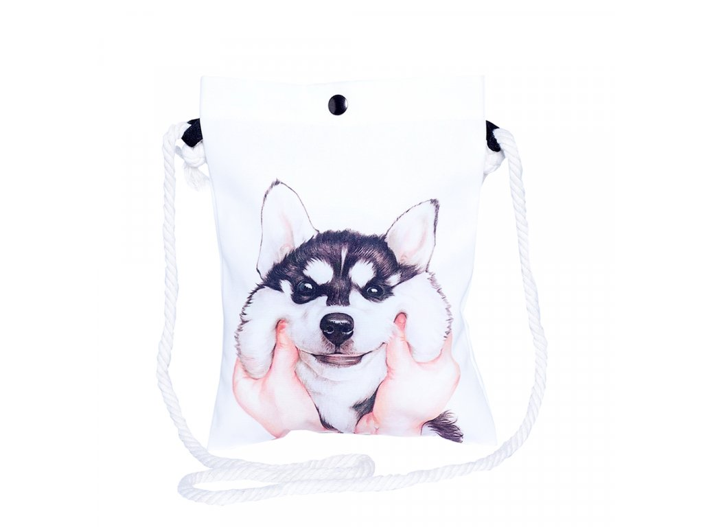 Damska crossbody kabelka psik husky Tickle Me Time for Lime