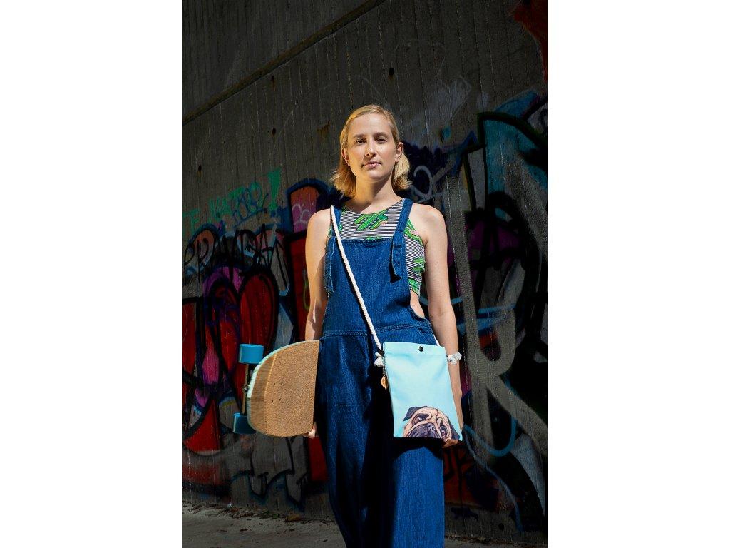 599fdcad21 ... Crossbody bavlnena kabelka In Love Blue Mops modra Time for Lime