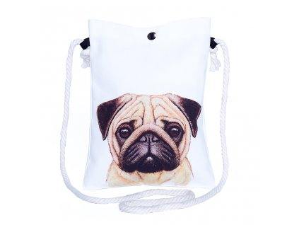 Damska crossbody kabelka psik mops Puppy Joy Time for Lime
