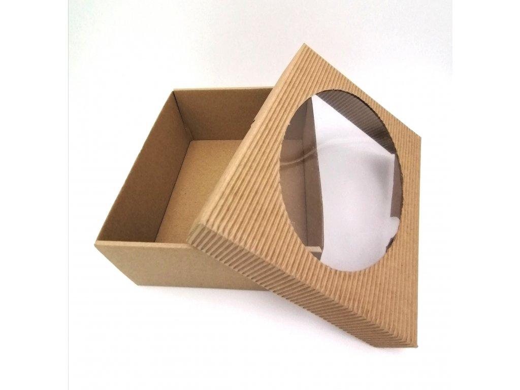Papírová krabička s okýnkem 2 velikosti