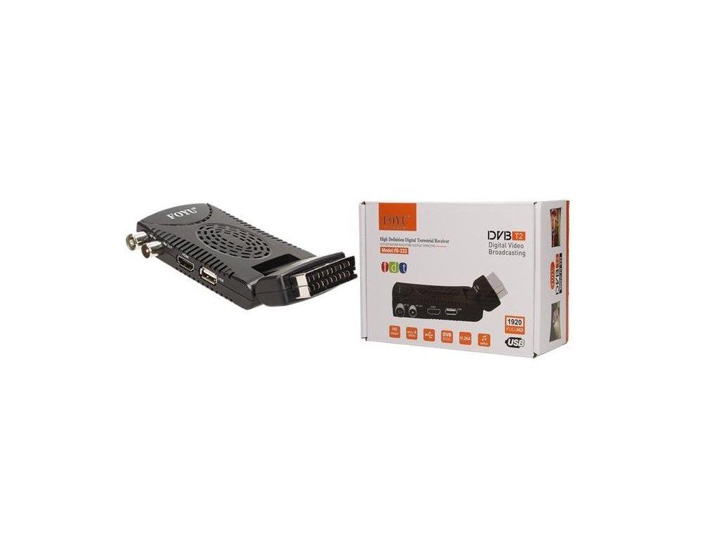 FULL-HD Set-top box pro příjem pozemního vysílání DVB-T2, FOYU FO-333