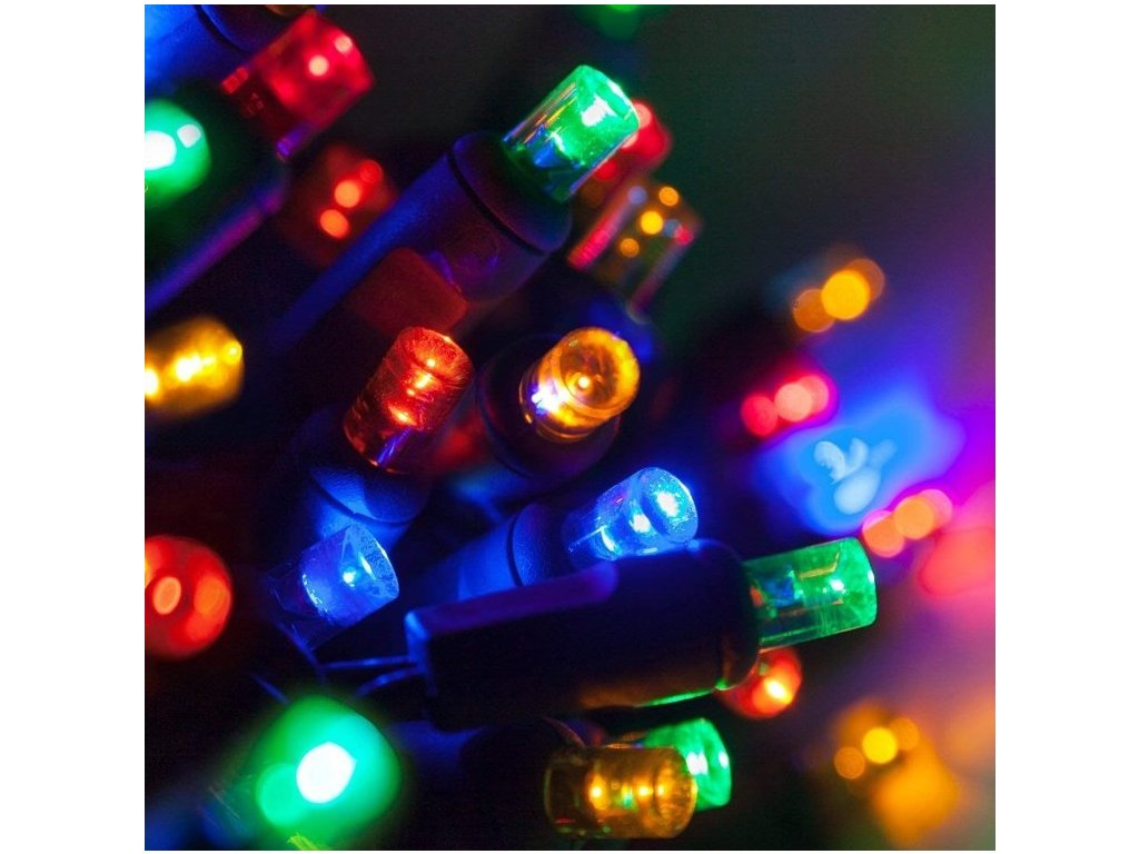 Venkovní LED vánoční řetěz, barevná, se záblesky, 5m až 20m