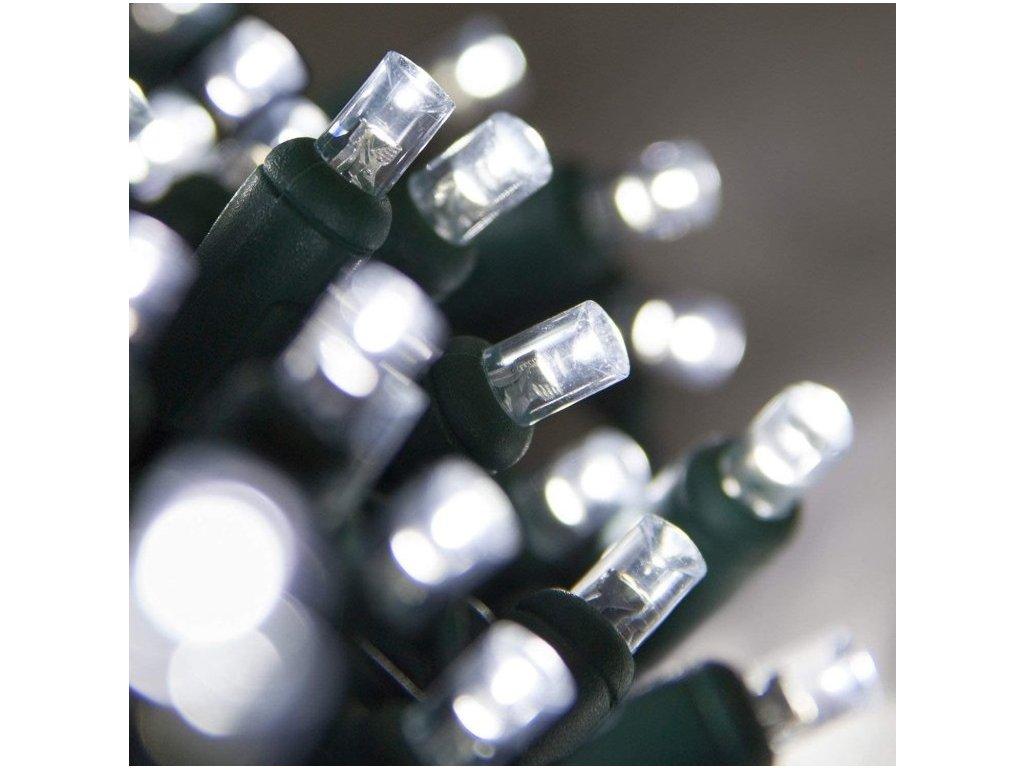 Venkovní LED vánoční řetěz, studená bílá, se záblesky, 5m až 20m