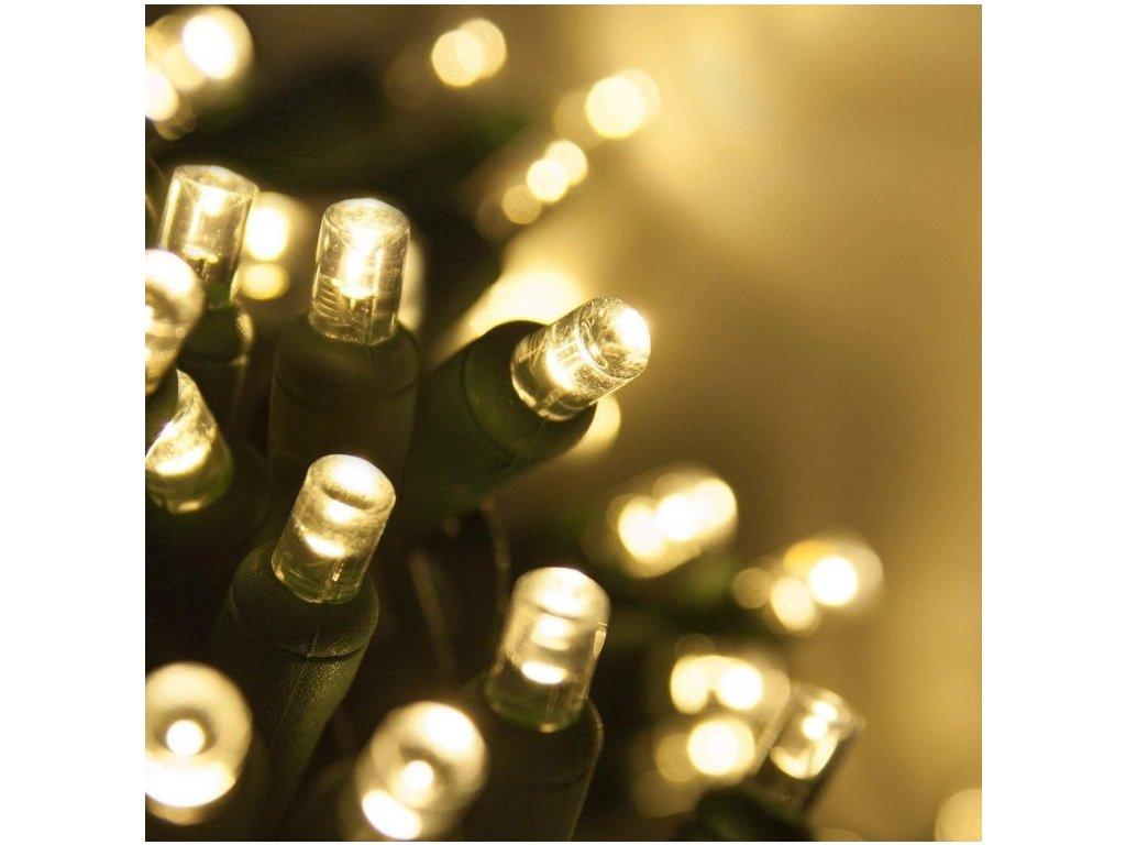 Venkovní LED vánoční řetěz, teplá bílá, se záblesky, 5m až 20m