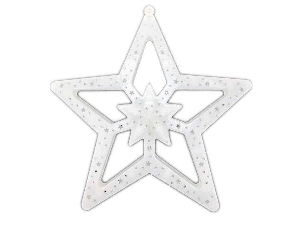 Svítící LED dekorace - hvězda, 40cm, různé barvy
