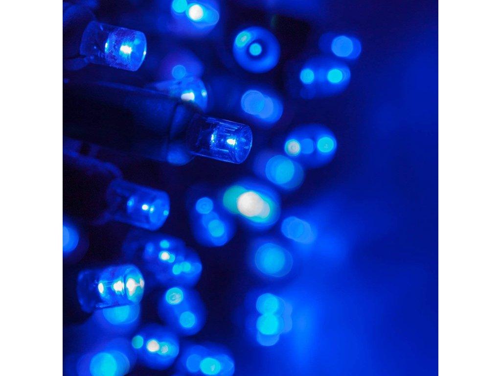 Vnitřní LED vánoční řetěz - modrý