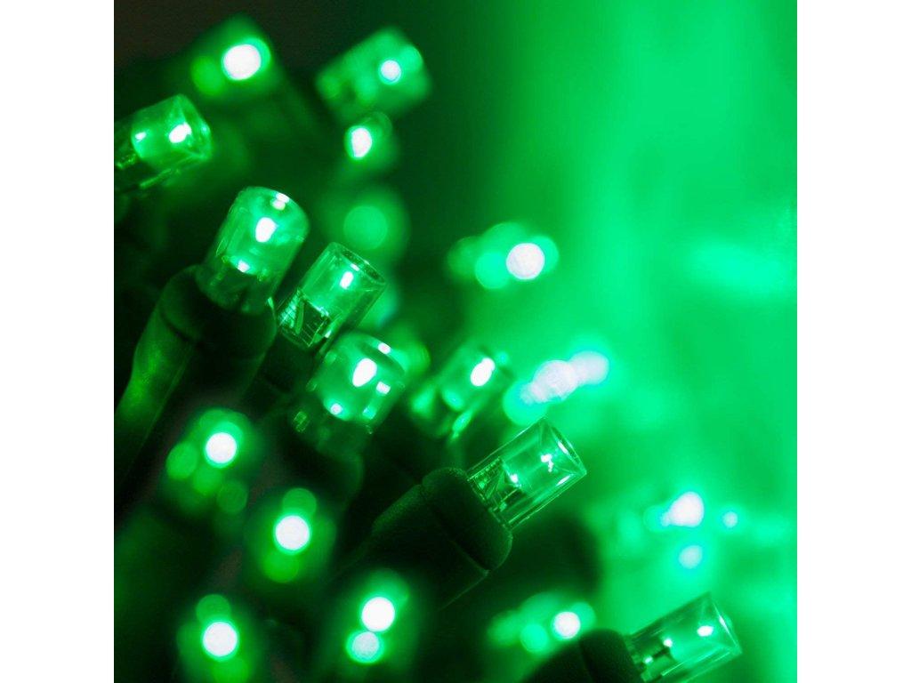 Vnitřní LED vánoční řetěz - zelený