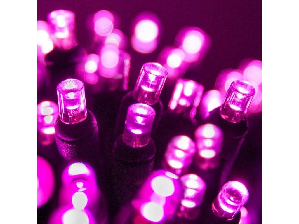 Vnitřní LED vánoční řetěz - růžový