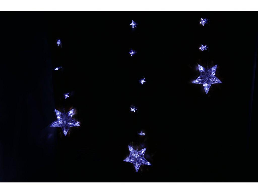 Vnitřní LED světelný závěs - hvězdy