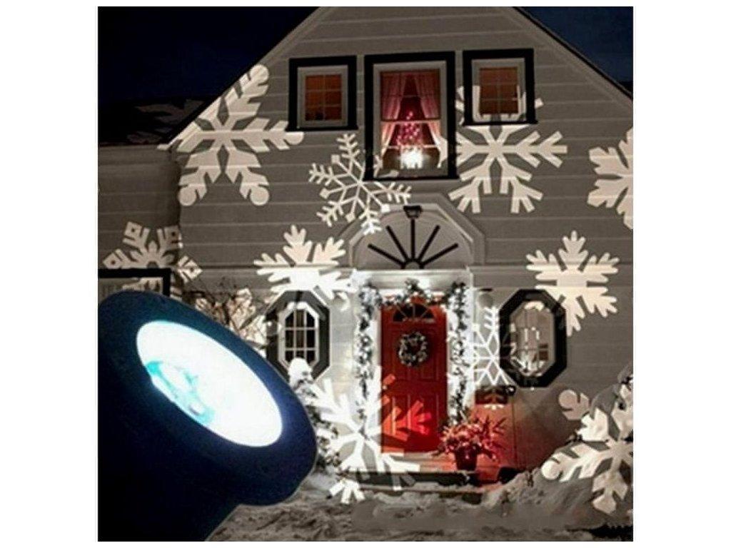 Venkovní dekorativní projektor - sněhové vločky