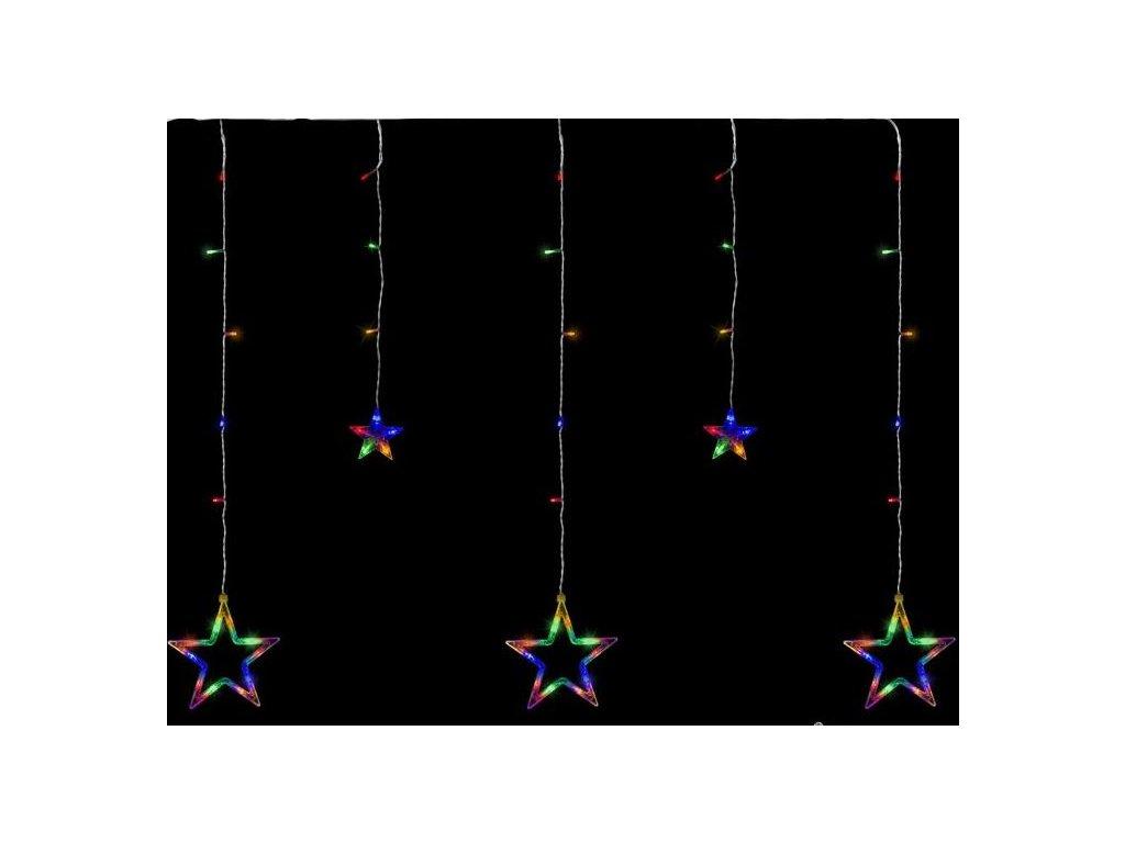 Vnitřní vánoční LED světelný závěs, hvězdy