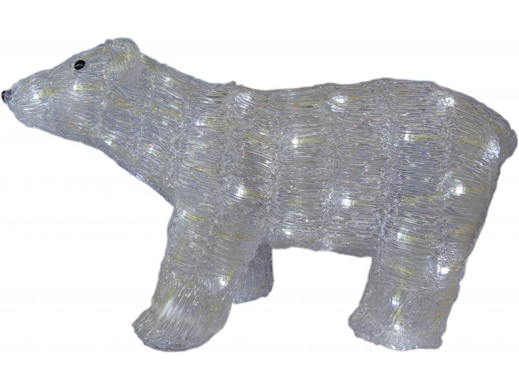LED světelný medvěd, světlá bílá