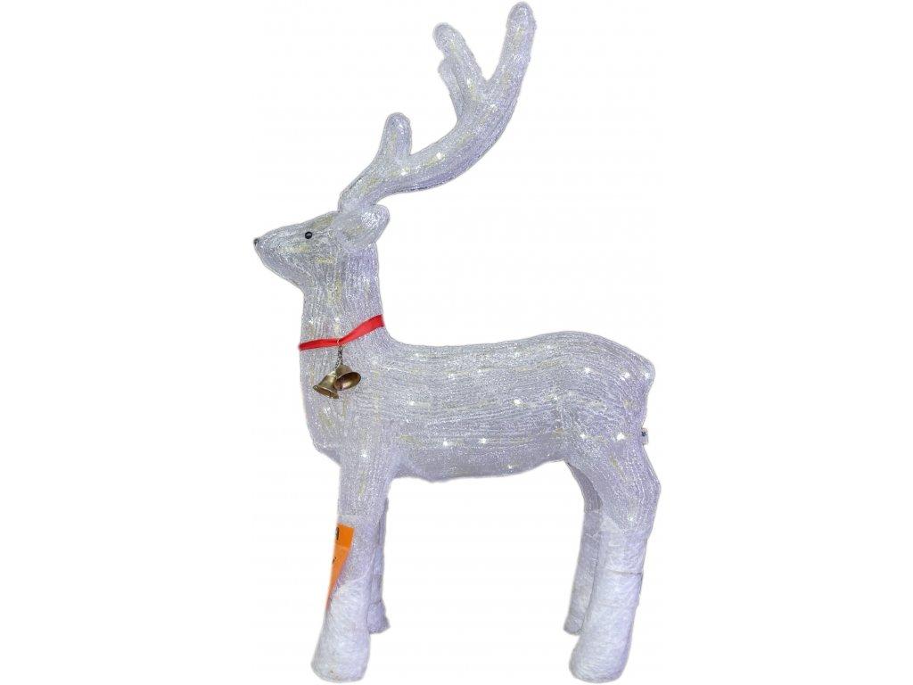 LED světelný jelen, studená bílá